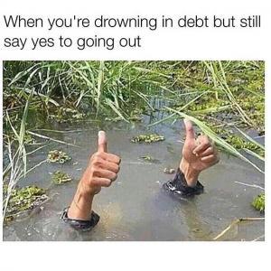 6. loo pilt drowning in debt